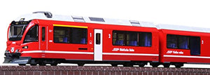 N gauge 10-1318 Rhaetian Railway-Bernina Express 5-car basic set