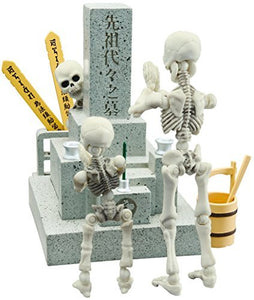 Pose skeleton grave set