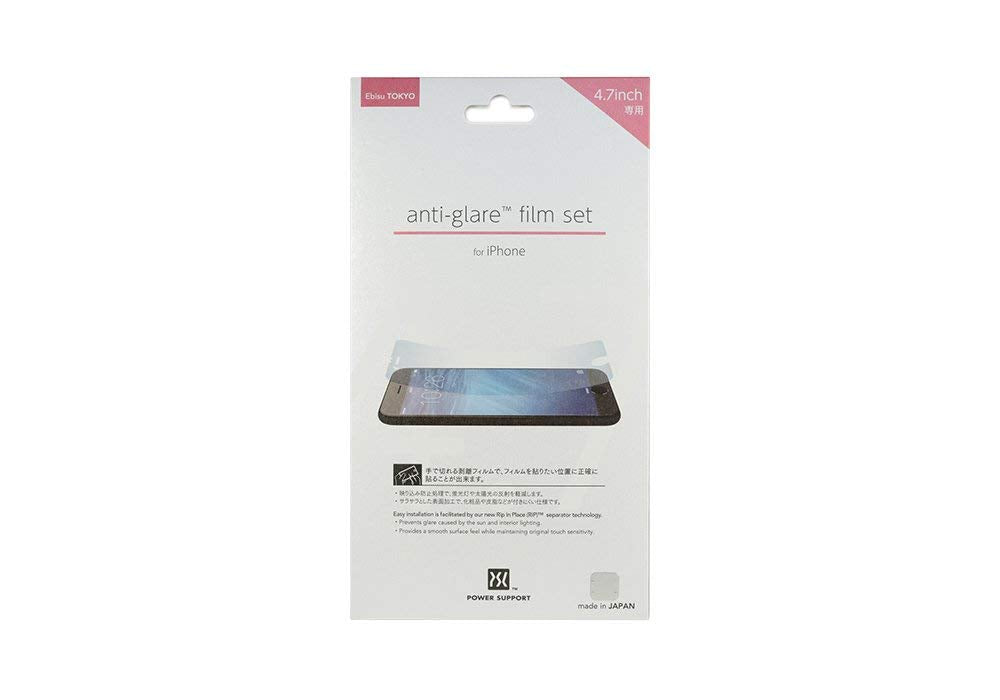 POWER SUPPORT anti-glare film set for iPhone6(4.7inch) PYC-02