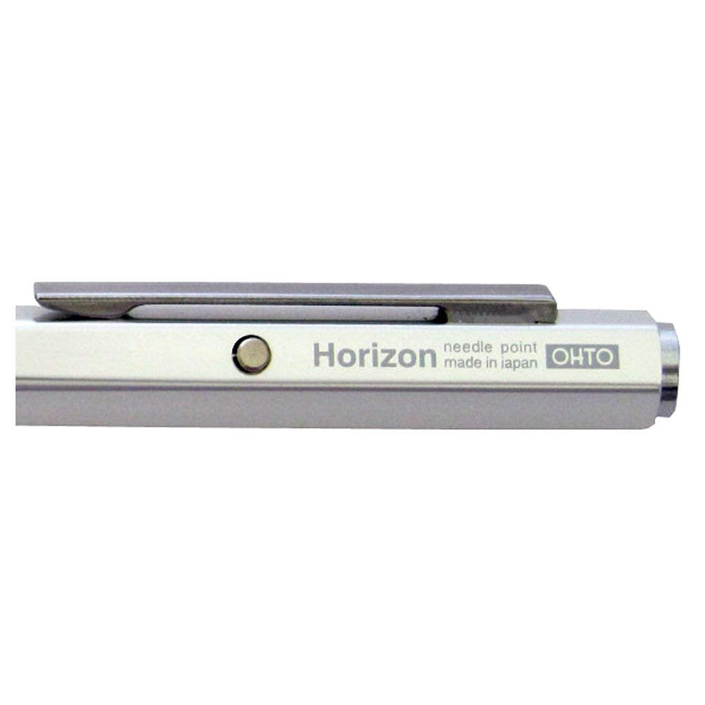 OHTO Needle Point Knock Ballpoint Pen Horizon Eu 0.7mm Ballpoint Silver Body (NBP-587H-SV)