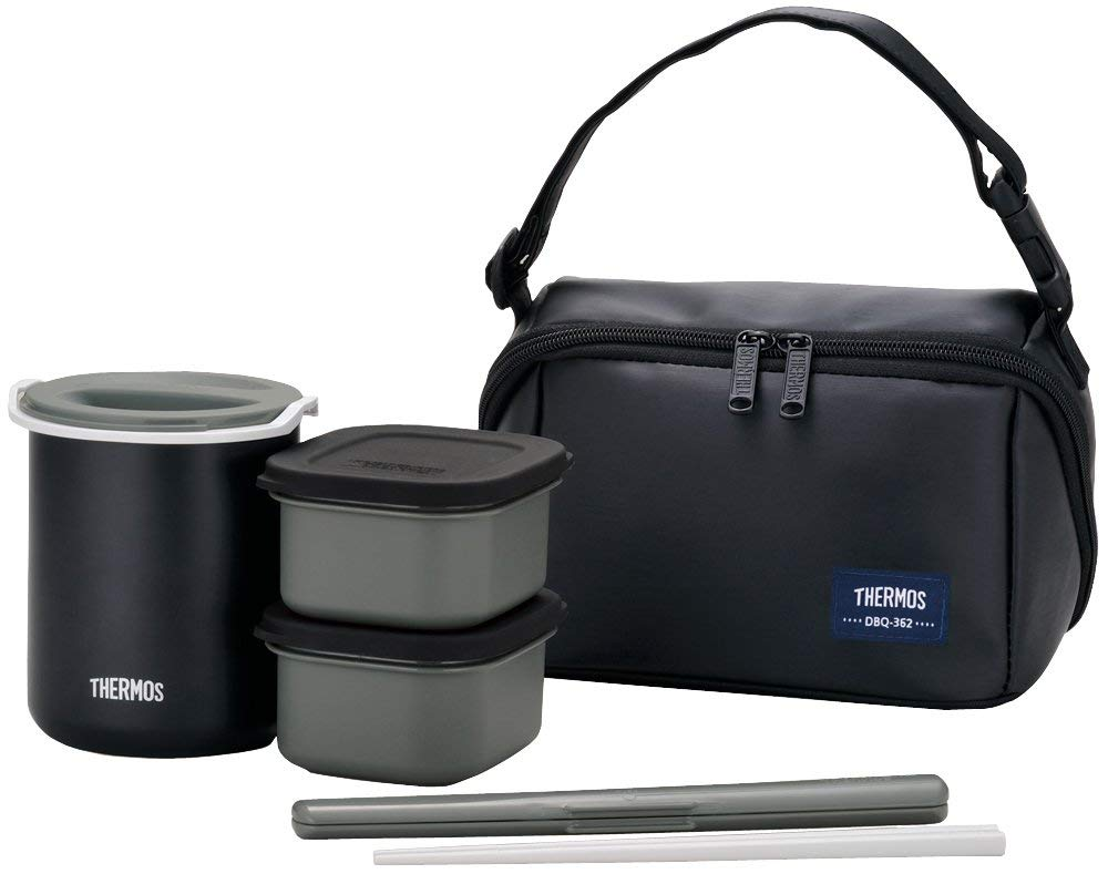 THERMOS heat insulation lunch box about 0.8 Go matte black DBQ-362 MTBK