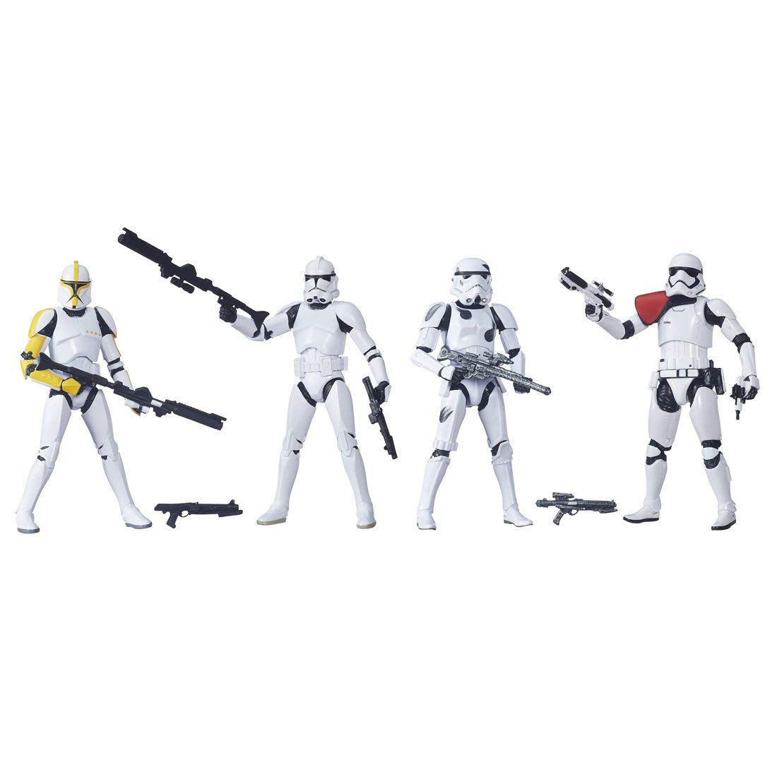 Star Wars Black Series 6 Zoll Figuren Trooper Builder 4 Pack (vorlaufig) gemalt Actionfigur