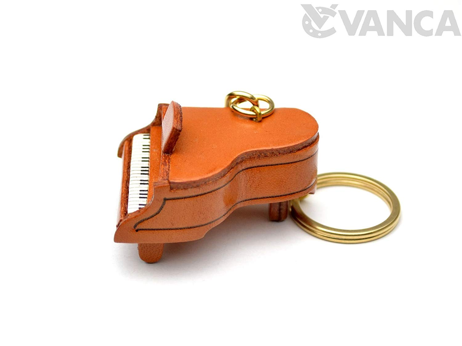 Vanca CRAFT (Handmade made in Japan craftsman) Leather Key Chain Piano