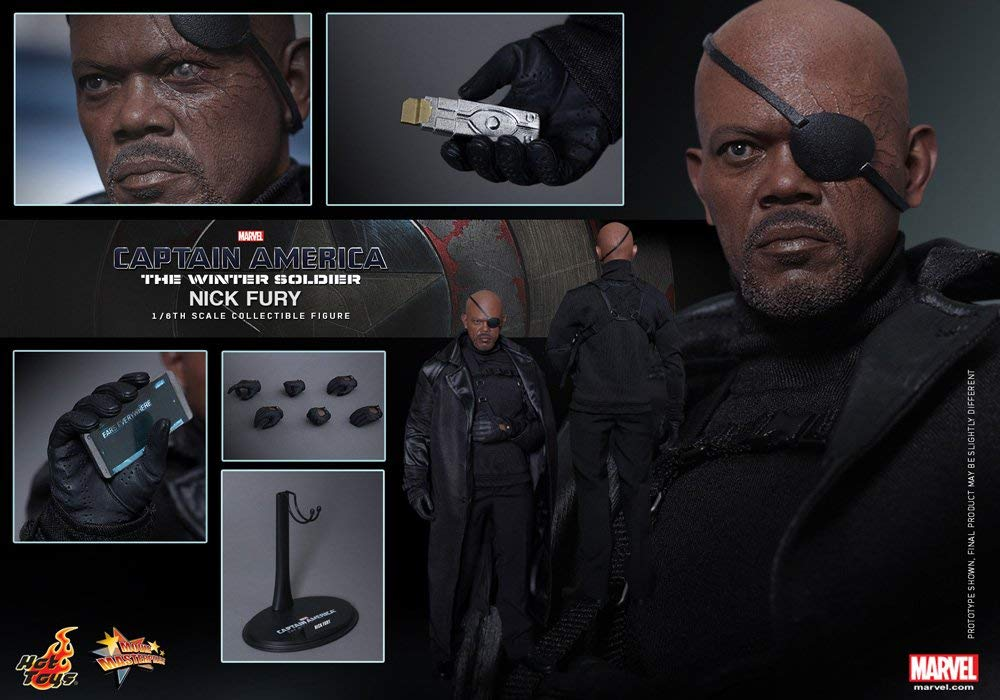 Hot Toys Marvel Captain America The Winter Soldier Nick Fury Samuel L. Jackson 1/6 Scale Figure