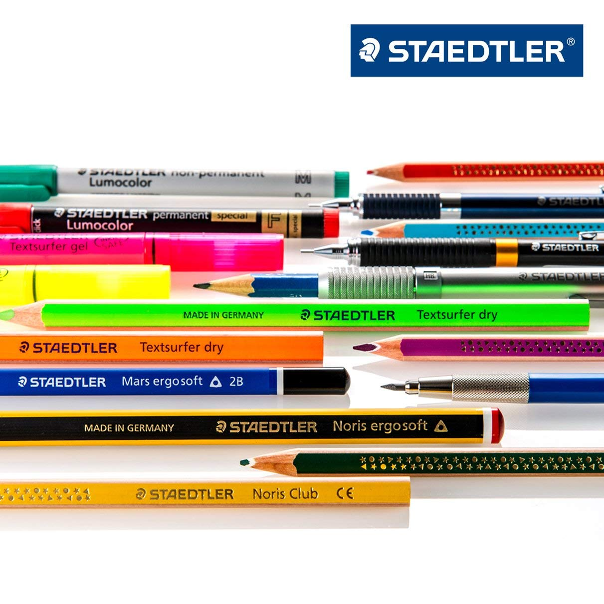 Staedtler Micro Mars Carbon Mechanical Pencil Leads, 0.5 mm, H, 60 mm x 12 (250 05 H)