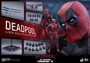 Hot Toys 1:6 Scale Deadpool Movie Figure (Red)