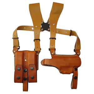 East Agent USP/P8 dedicated horizontal shoulder holster silhouette (made of leather Brown) No.284-BR