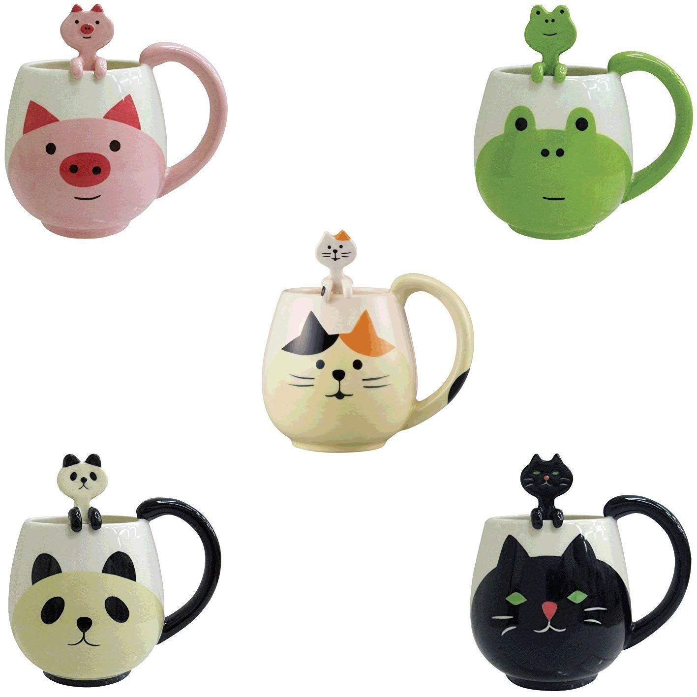 Cat 12 Oz. Mug and Spoon by Decole