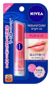 Nivea JAPAN Nivea natural color lip Bright up Cherry Red 3.5g