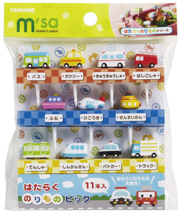 Torune Food picks motive: vehicle, airplane, ship, 11 pieces P-3170