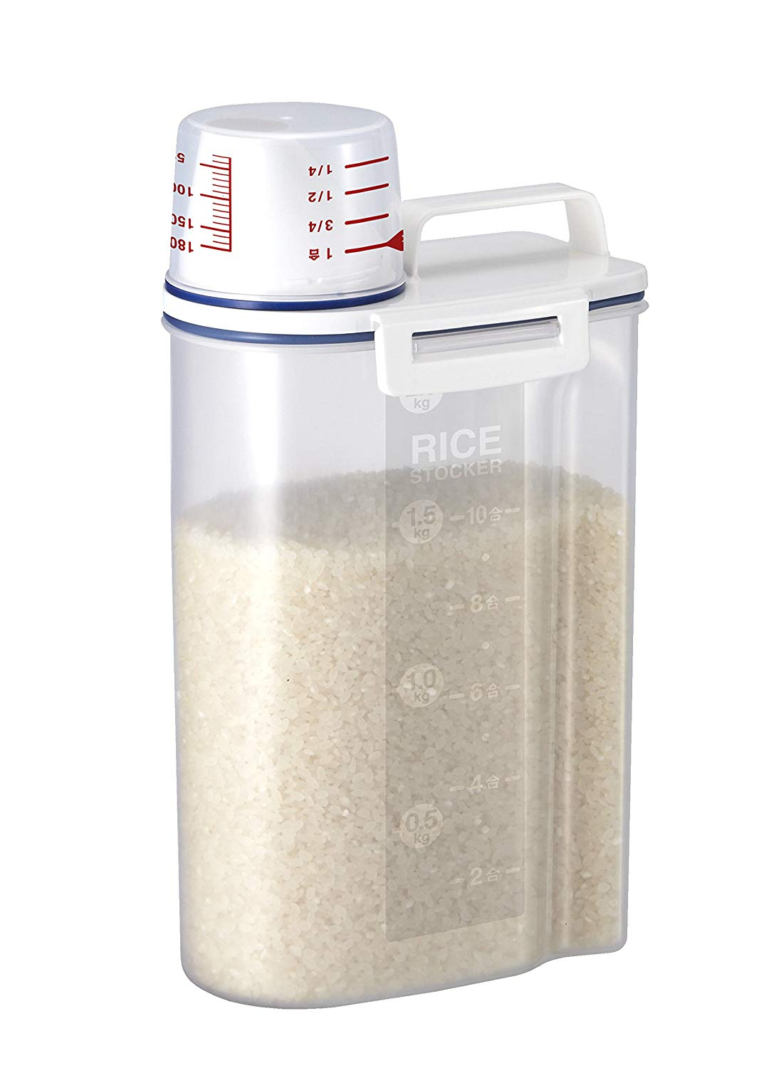 Rice Storage Bin with Pour Spout
