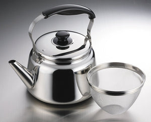 Furetti 2 stainless steel wide-mouth kettle 5.0L (tea strainer with Ami) H-1238