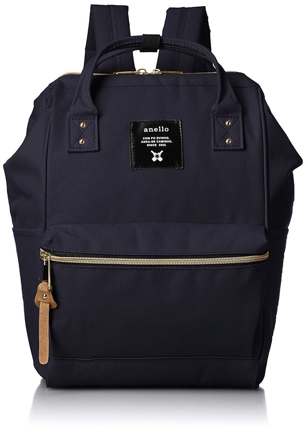 anello Small Backpack with Side Pockets Navy #AT-B0197B