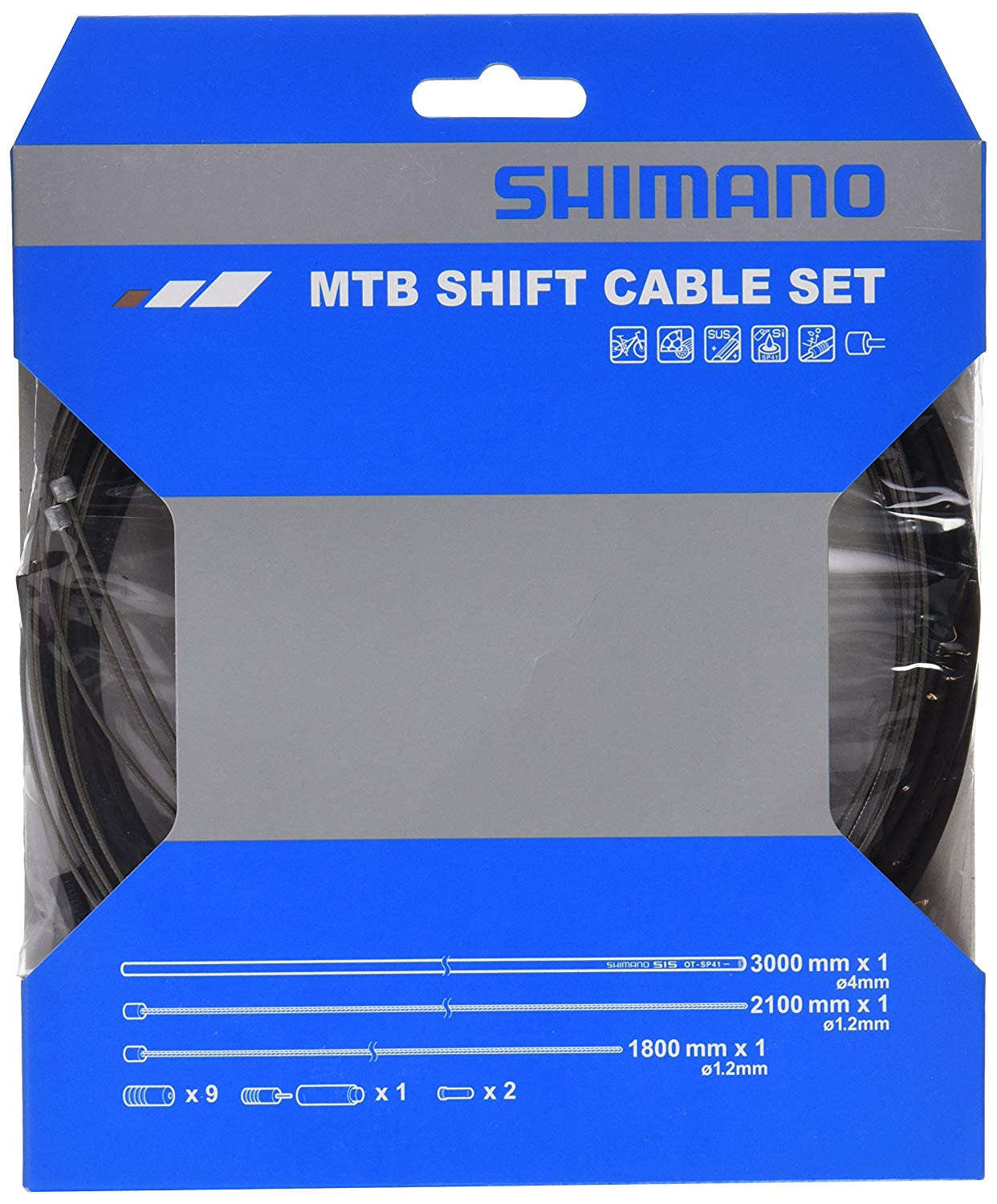 Shimano Spares MTB Gear Set Cable - Black