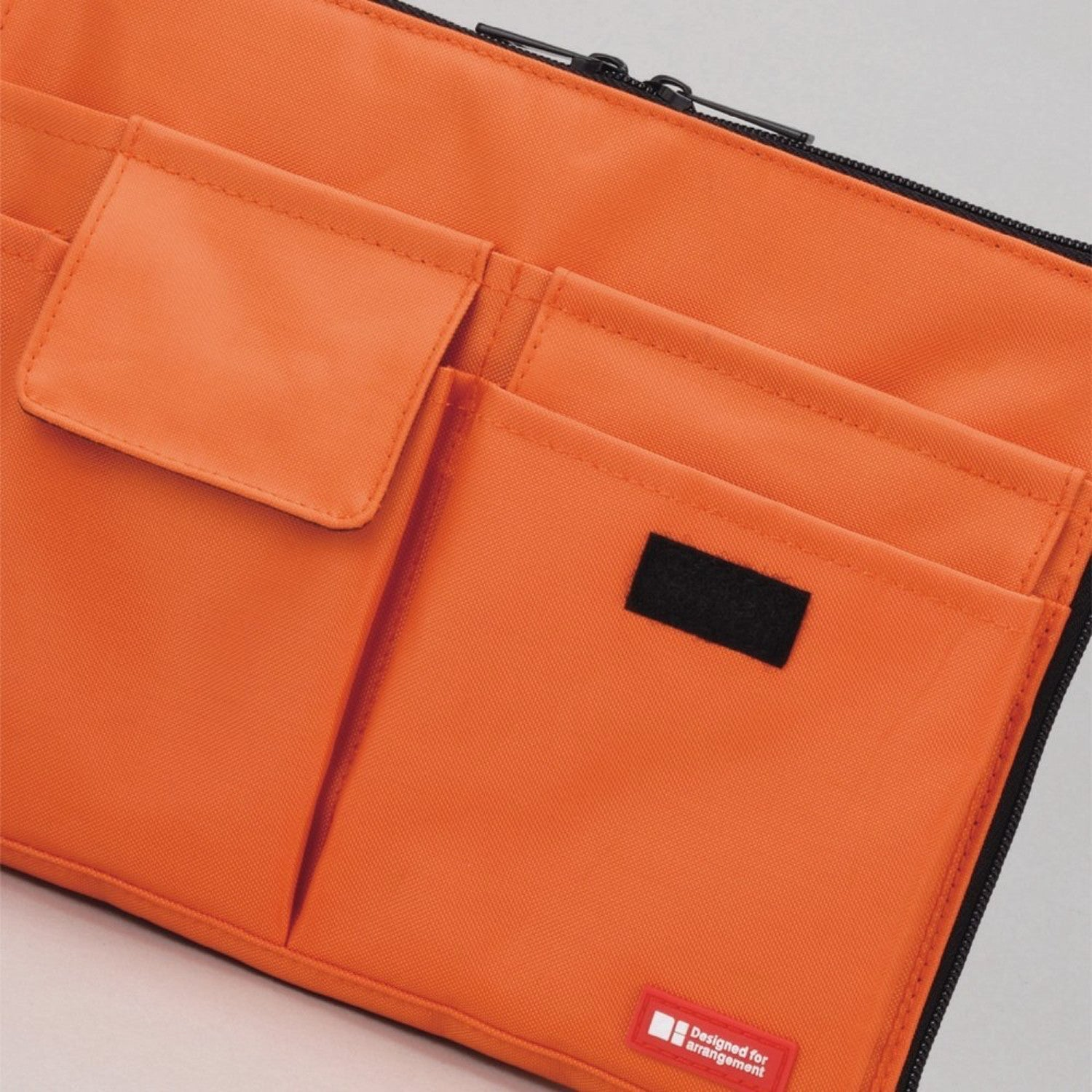 LIHIT LAB Bag Insert Organizer With Storage Pockets (Bag-in-Bag), Orange, 7.1 x 9.8 Inches (A7553-4)