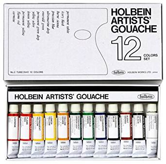 Holbein Artists Gouache Set of 12 5ml tubes