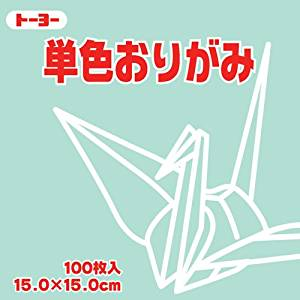 Toyo Origami Paper Single Color - Light Green - 15cm, 100 Sheets