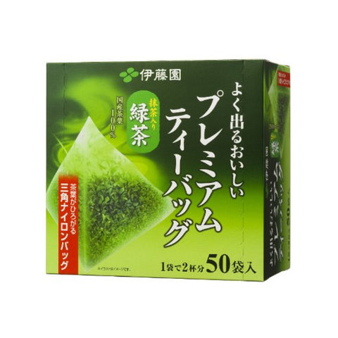 Itoen Ryokucha Green tea Matcha Blend Premium bag Pack of 50