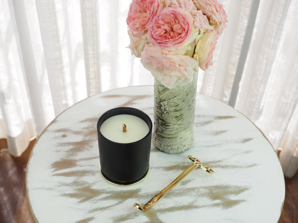 Glamour Matte black Soy Candle Gold lid