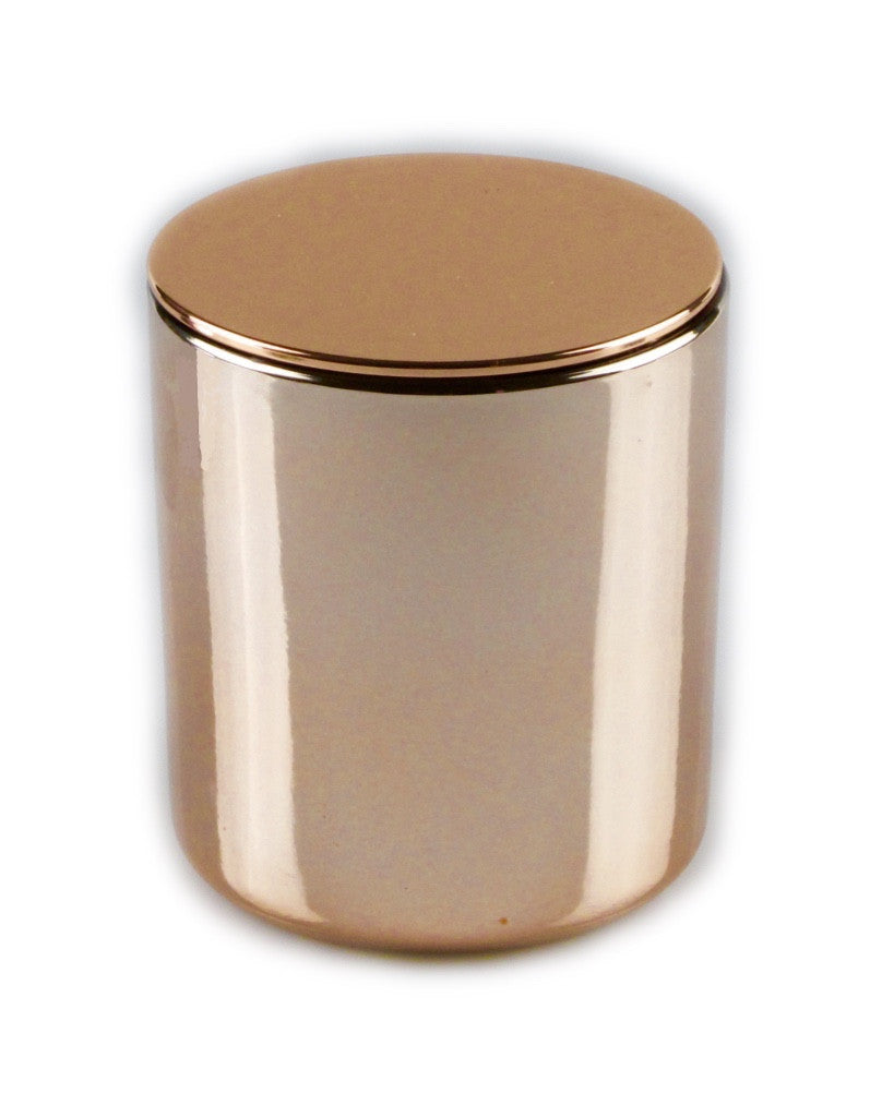 Glamour Rose Gold soy Candle Rose gold lid