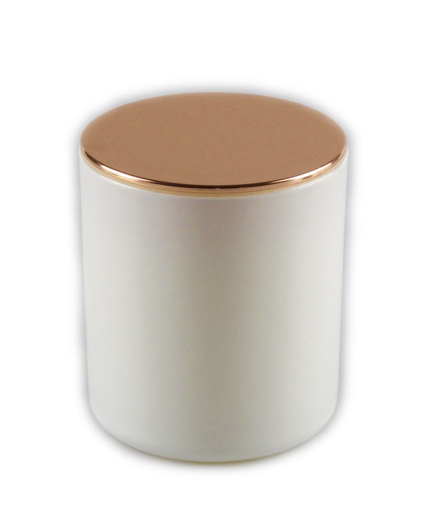 Glamour White Soy Candle Rose gold lid