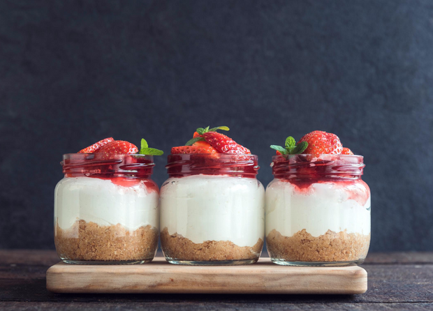 Seasonal Fruit Cheesecake Cups