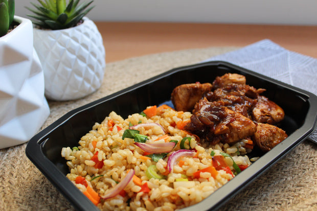 Honey Soy Chicken & Fried Brown Rice