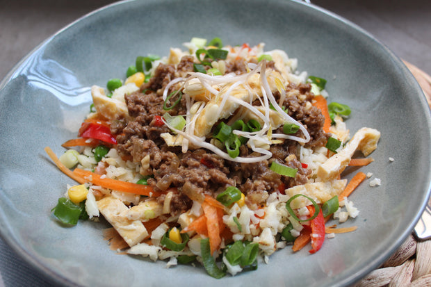 Cashew Beef & Cauliflower Fried Rice