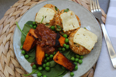 Sweet Potato, Brown Rice & Quinoa Fritters