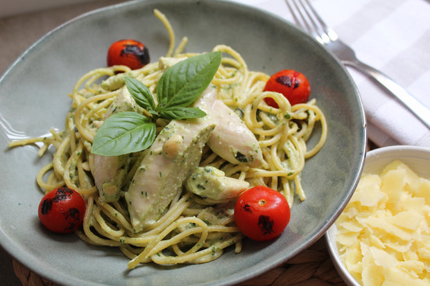 Creamy Pesto Chicken Pasta
