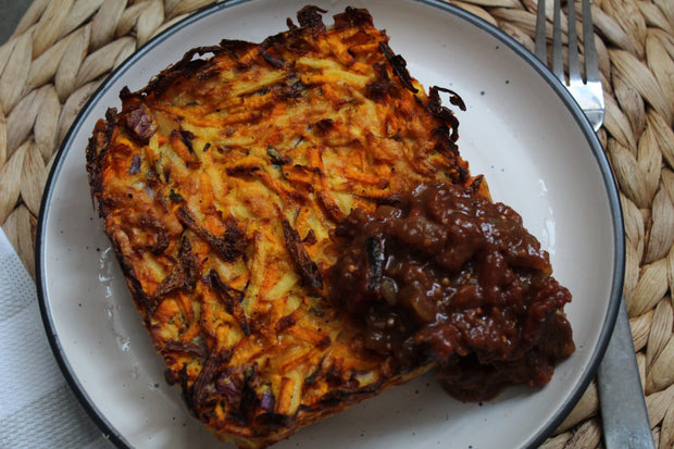 Crisp Carrot and Sweet Potato Rosti