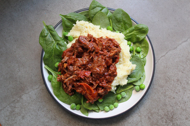 Beef Ragout with Parsnip Mash
