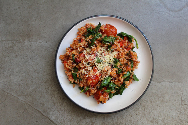 Lower Carb Mediterranean Risotto