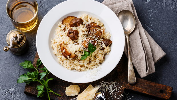 Mushroom & Three Cheese Risotto