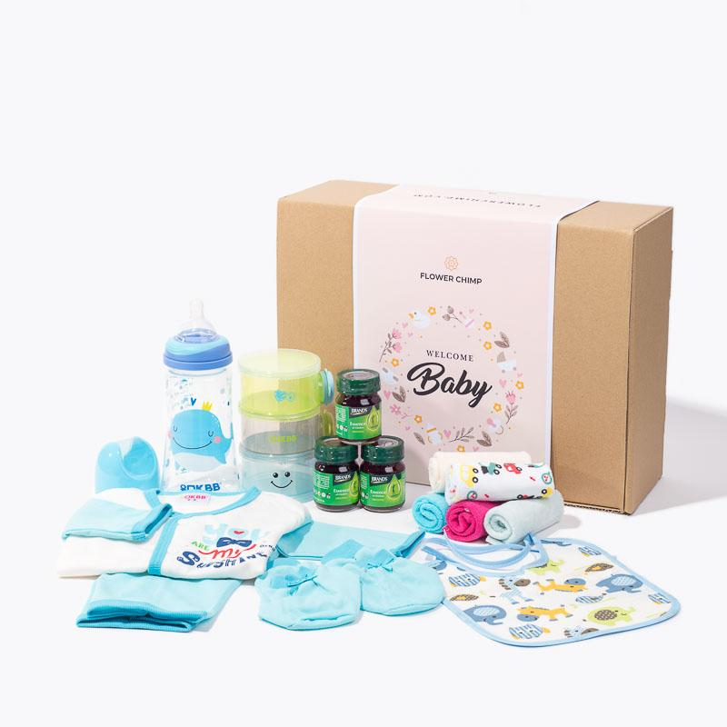 hamper_baby Bashful Baby Blue Box