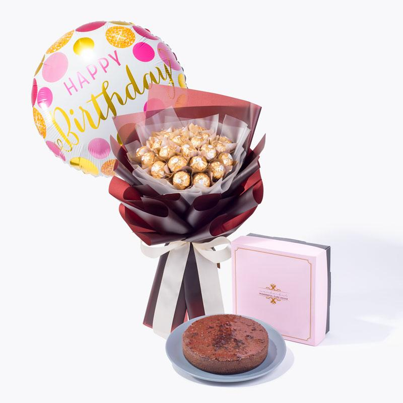 bundle_bouquet_cake_balloon Birthday Gift Pack 05
