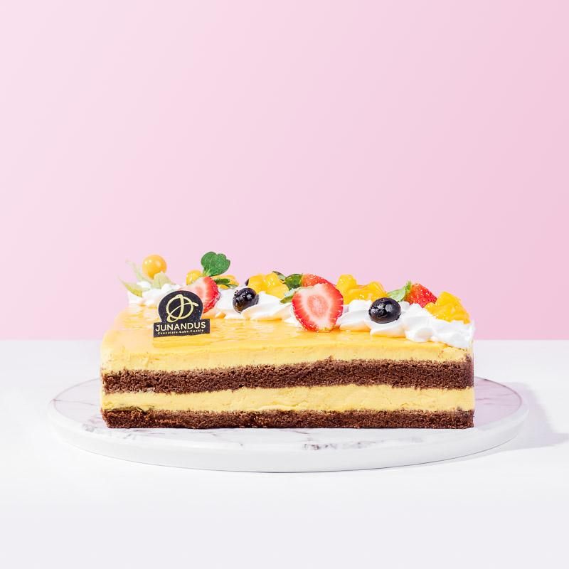 Chocolate Mango Mousse Cake