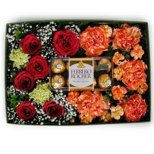 flowers_box Dessert Rose