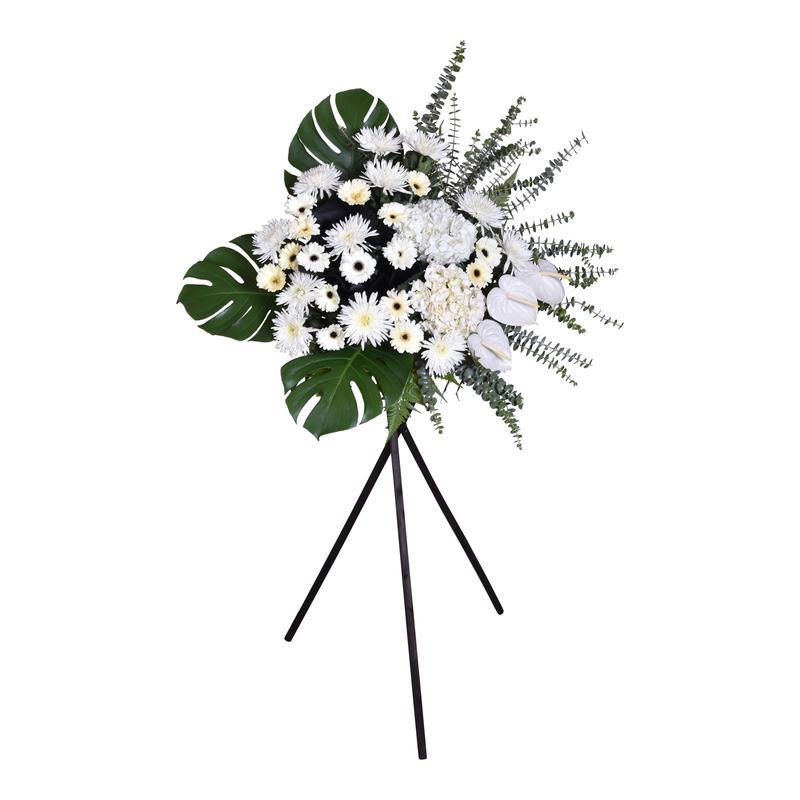 flower_stand_condolence Purity Condolence / Funeral Flowers