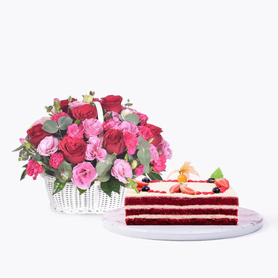 bundle_bouquet_cake Sweet Hues + Red Velvet Cake