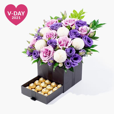 flowers_box_trinity_ferrero Trinity Box Deluxe Collection - Purple Glow