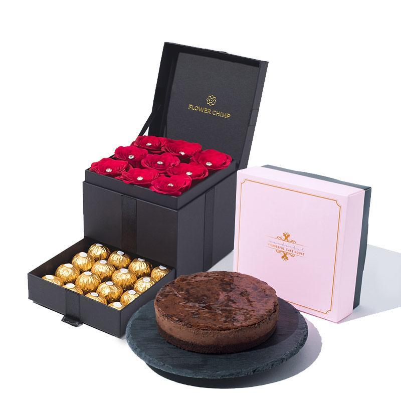 Trinity Scarlette Treasure + Chocolate Devil Cheesecake