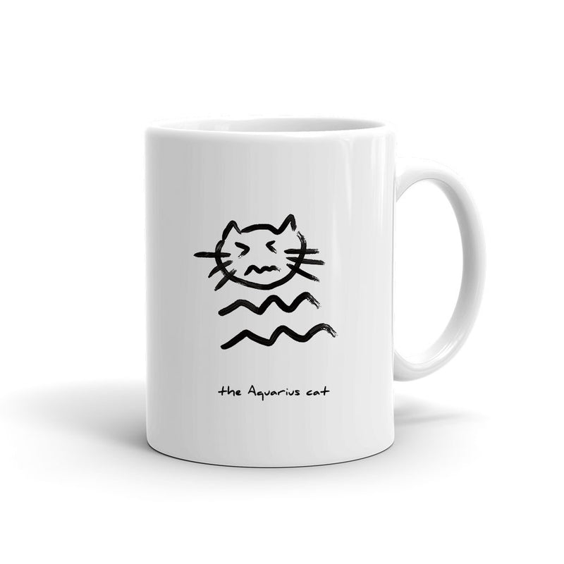 Zodiac Cat Mug | AQUARIUS