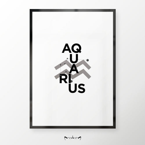 ZODIAC B&W COLLAGES | AQUARIUS