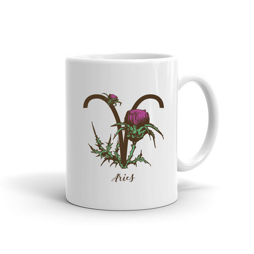 Zodiac Flowers Mug | ARIES