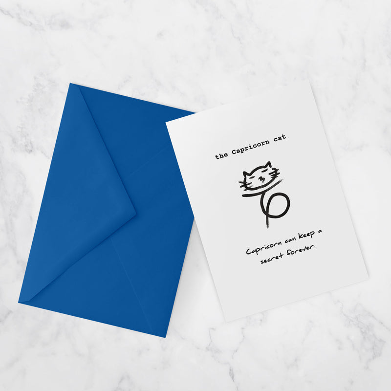 Zodiac Cats Greeting cards | CAPRICORN