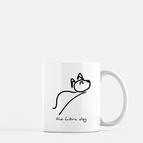 libra constellation zodiac sign horoscope astrology dog puppy mug