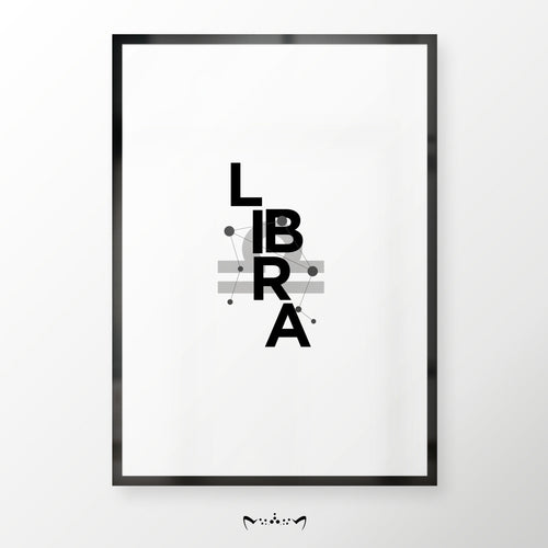 ZODIAC B&W COLLAGES | LIBRA