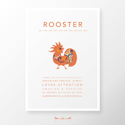 ROOSTER (1945, 1957, 1969, 1981, 1993, 2005, 2017, 2029)
