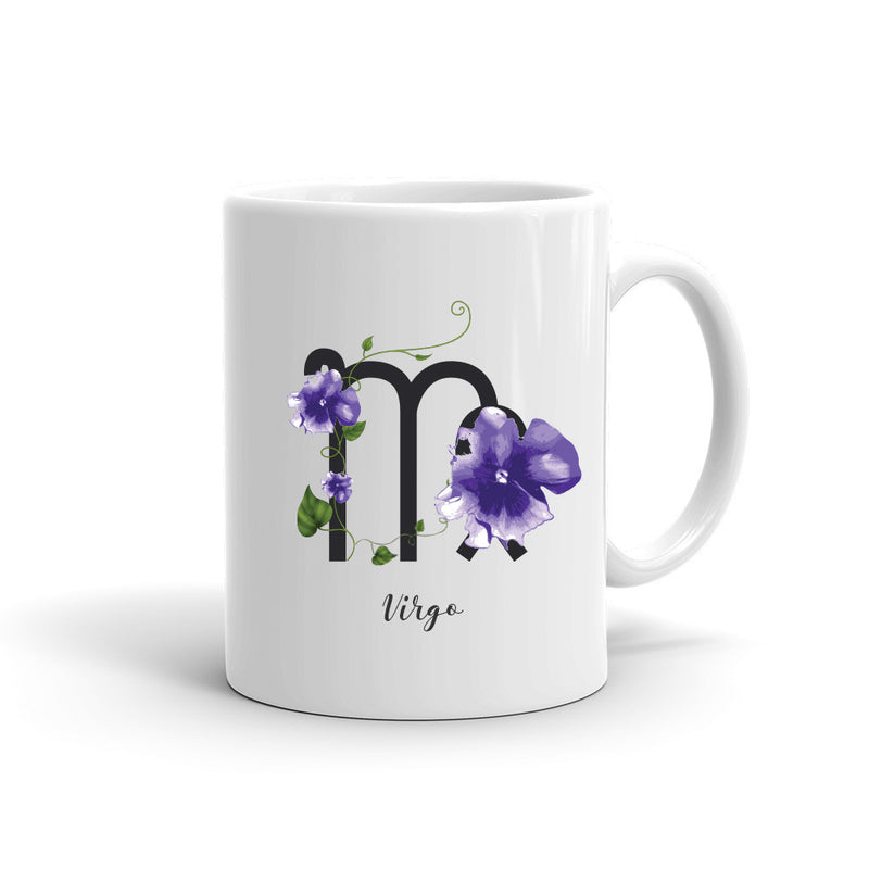 Zodiac Flowers Mug | VIRGO